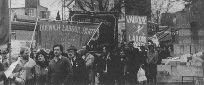Lambeth Labour banners June 1984